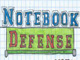 Jeu Notebook Defense